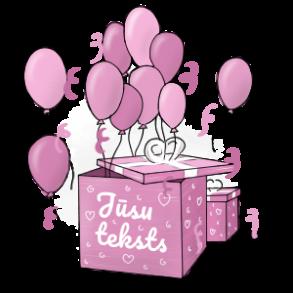 Pārsteigumu kaste ar baloniem