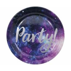 Šķīvīši, Space Party, 8 gb, (23 cm)