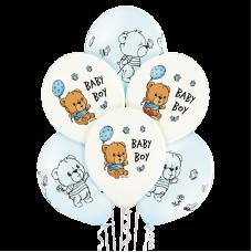 Lateksa balons ar zīmejumu, Baby Boy, (30 cm)