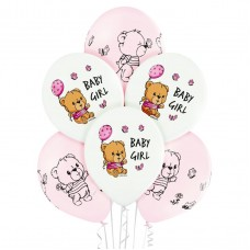 Lateksa balons ar zīmejumu, Baby Girl, (30 cm)