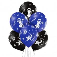Lateksa balons ar zīmejumu, Kosmos, (30 cm)