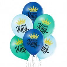 Lateksa balons ar zīmejumu, Little King, (30 cm)