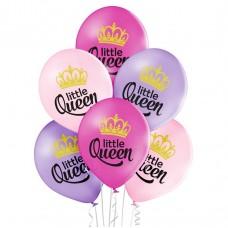 Lateksa balons ar zīmejumu, Little Queen, (30 cm)