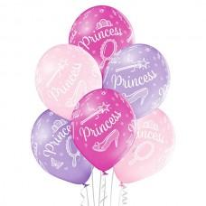 Lateksa balons ar zīmejumu, Princese, (30 cm)