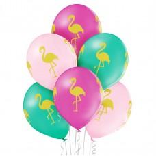 Lateksa balons ar zīmejumu, Flamingo, (30 cm)