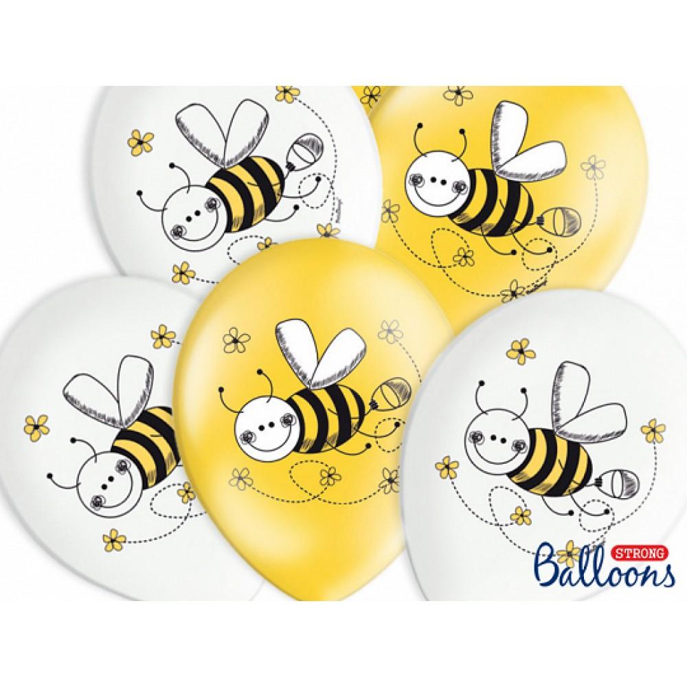 Lateksa balons ar zīmejumu, Bites, (30 cm)