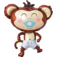 Pērtiķis ar knupīti, Zils, (99 cm)