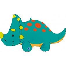 Dinozaurs, Zaļš Triceratops, (91 cm)