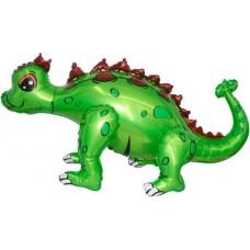 Dinozaurs Ankylosaurus, Zaļš, Staigaiošs, (74 cm)
