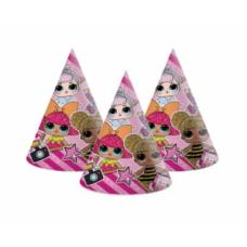 Papīra cepures LOL, (6 gb)