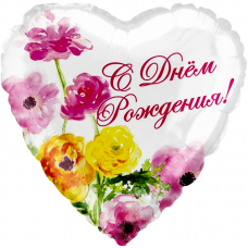 Sirds, Daudz laimes dzimšanas dienā, Ziedi, Krievu val, (46 сm)
