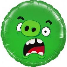 Aplis, Angry Birds, Zaļš, (46 cm)
