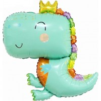 "Balons (32 ""/ 81 cm), Dinozaurs, gaiši zaļš, 1 gab."