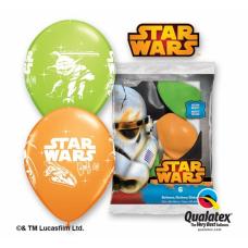 Lateksa balons ar zīmejumu, Star Wars, Daudzkrāsains. (30 cm)