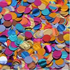 Konfetti, Daudzkrāsaini, 50 g, (1 cm)