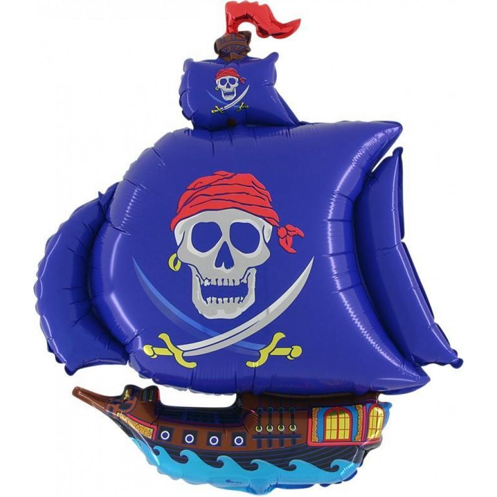 Pirātu kuģis, Zils, (104 cm)