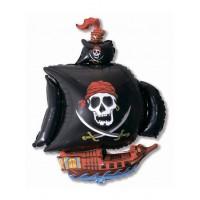 Pirātu kuģis, Мelns, (104 cm)