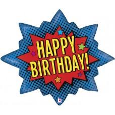 Happy Birthday, Spilgts sprādziens, (81 cm)