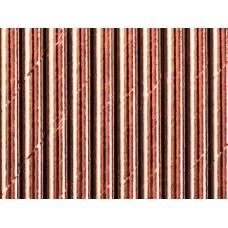 Papīra salmiņi, Roza zelts, 10 gb, (19.5 cm)