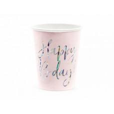 Glāzes, Happy Birthday,Rozā, 6 gb, (220 ml)