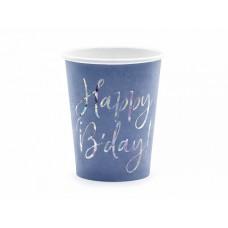 Glāzes, Happy Birthday, Zils, 6 gb, (220 ml)