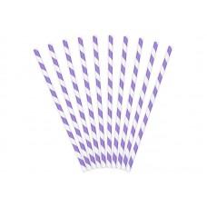 Papīra salmiņi, Violets, 10 gb, (19.5 cm)