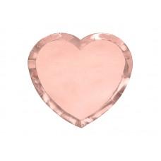 Šķīviši, Sirds, Roza zelts, 6 gb, (21x19 cm)