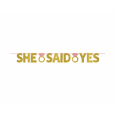 Virtene, She said yes, Zelts, (365x15 cm)
