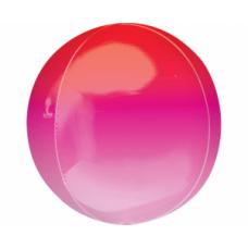 Sfera, Sarkana rozā, (38 cm)