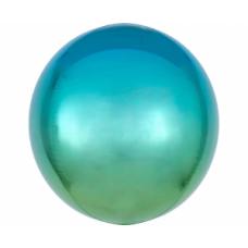 Sfera, Zila zaļš, (38 cm)