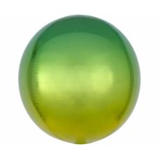 Sfera, Dzeltena zaļš, (38 cm)
