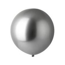 Lateksa balons, Sudrabs, Hrom, (80 cm)