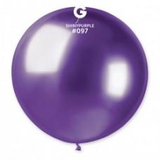 Lateksa balons, Violets, Hrom, (80 cm)