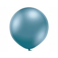 Lateksa balons, Zils, Hrom, (80 cm)