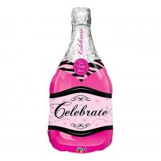 Šampanieša pudele, Roza, (99 cm)