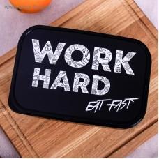 Ēdiena kastīte, Work Hard, (1,2 l)