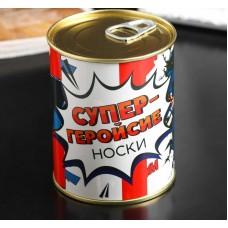Vīriešu zeķes konservu bundžā, Super varonis, Krievu val, (42-43 izmērs)