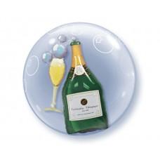 Dubultā balons Šampanietis, (61 cm)