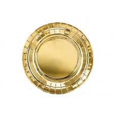 Šķīvīši, Zelts, 6 gab, (18 cm)