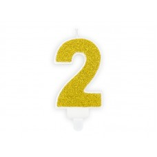 Svece 2, Zelts, (7 cm)