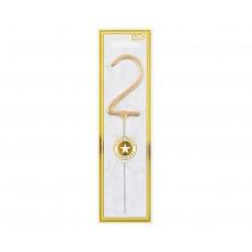 Brīnumsvecīte 2, Zelts, (16 cm)