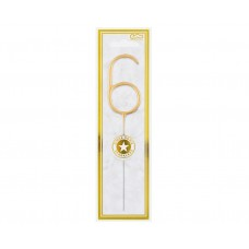 Brīnumsvecīte 6, Zelts, (16 cm)