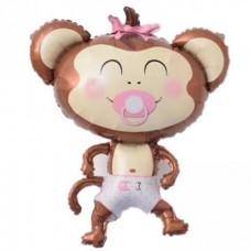 Pērtiķis ar knupīti, Rozā, (99 cm)