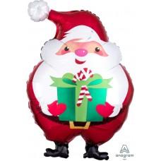 Ziemassvētku vecītis ar dāvanu, (50 cm)