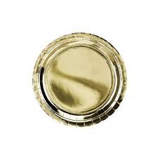Šķīvīši, Zelta krāsa, 8 gb, (21.9 cm)