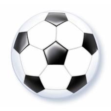 Caurspīdīga balons, Futbols, (56 cm)