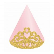Papīra cepures Kronis, Rozā (4 gb)