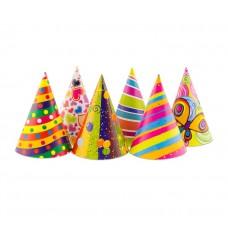 Papīra cepures, Daudzkrāsains, (6 gb)