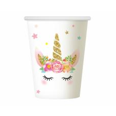 Glāze, Vienradzis ar ziediņiem, 6 gb, (266 ml)