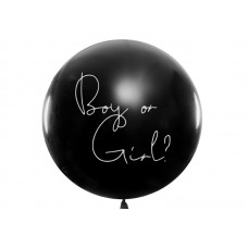Lateksa balons, Boy or Girl, Rozā, (1 м)